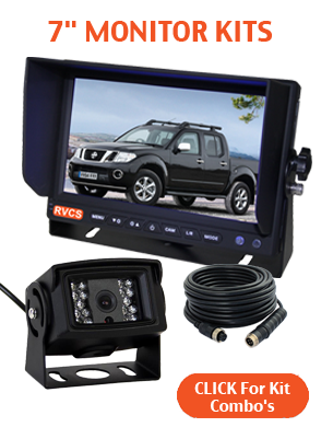 7inch Reversing Camera Monitor Kits With Two Cameras