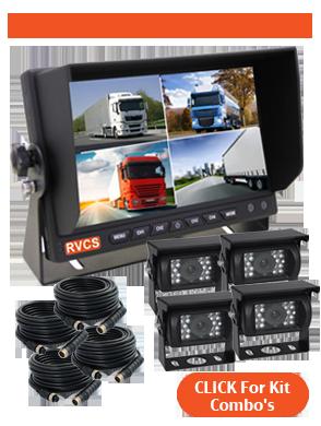 7inch Quad Reversing Camera Kit Combinations