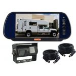 7inch Coaches Rear Vision Mirror Monitor Kit With Dual Camera