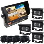 7inch Reversing Quad Monitor Camera Kit