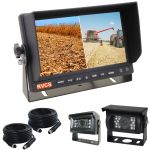7inch Farming Reversing Camera Two Splits Monitor Kit With Two Cameras