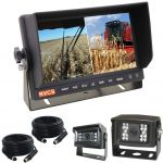 7inch Farm Rear Vision Camera Dual Screen Monitor Kit With Two Cameras