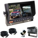 7inch Four Wheel Drive Reversing Two Splits Monitor Kit With Two Security Cameras