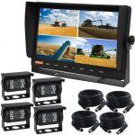 10.1inch Farming Quad Monitor Reversing Camera Kit With Four Cameras