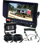"""One Revering Camera, 7"""" Monitor & a  Curly Cable Connection for a Caravan  (RV-MSD7BC13)"""