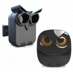 RVCS Battery Operated Driveway Alert Owl Sensor Beam and Owl Chime that Plugs into the Power (DW-RO89TO500m)