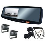 4.3inch Caravan Rear View Mirror Monitor System With One Camera Trailer Cable