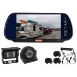 7inch Caravan Rear View Kit With One Camera Suie/Curly Cable