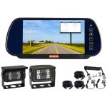 7inch Caravan Reversing Mirror Monitor Kit With One Suzie/Curly Cable