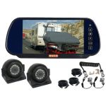 7inch Caravan Rear Vision Mirror Monitor Kit With One Camera Suzie/Curly Cable And Two Side View 120° Cameras