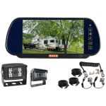 7inch Caravan Reversing Mirror Monitor Kit With One Camera Trailer Cable