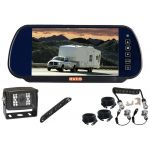 7inch Caravan/Trailer Rearview Monitor With One a Camera Woza/Suzie/Pig Cable with One Number Plate Camera 150° & 120° CCD Backup Camera