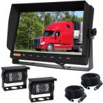 Large 10.1inch Rear View Camera Kit with two 90° Cameras