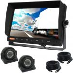 Big 10.1inch Reversing Camera Monitor with Two Side View Cameras 120° & Cables