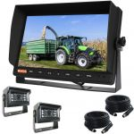 10.1inch Farming Rear-View & Reversing Camera Kit With Two 120° Mini Cameras