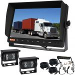 10.1inch Trailer Reversing Monitor Camera Kit With One Camera Trailer Cable And Two 90° CCD High Resolution Cameras