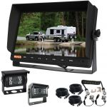 "Reverse Safely In Your Truck Or Bus With A large 10.1"" Monitor & A Heavy Duty Trailer Woza Cable & Two Waterproof Cameras 90° & 120° Included in the Kit"