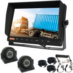 10.1inch Trailer Reversing Monitor Camera Kit With One Camera Trailer Cable And Two 120° CCD Side View Cameras