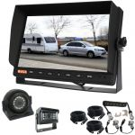 "Enhance Safety with This 10.1"" Rear View Monitor Camera Bundle Includes Two Sharp Cameras & Curly Breakaway Cable"