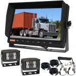 10.1inch Trailer  Reversing Monitor Camera Kit With One Camera Trailer Cable And Two 120° CCD High Resolution Cameras