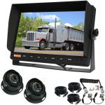 10.1inch Trailer Reversing Monitor Camera Kit With One Camera Trailer Cable And Two 120° CCD Dome Cameras