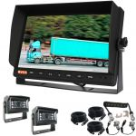 10.1inch Trailer Reversing Monitor Camera Kit With One Camera Trailer Cable And Two MINI 120 ° Backup Cameras