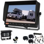 "Huge 10.1"" Reversing Camera Monitor With Two Cameras Camera & a Robust Curly Removable Hitch Cable Providing A Waterproof Secure Connection"