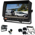 10.1inch Reversing Camera Monitor with A Wide Angle camera 150° & a 120° Camera & A Woza Curly Cable For a Secure Trailer Connection