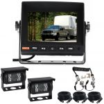 5inch Caravan Reversing Monitor Backup Camera Kit With One Camera Suzie/Curly Cable And Two 90° Cameras