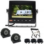 5inch Caravan Reversing Monitor Backup Camera Kit With One Camera Suzie/Curly Cable  And Two Side View 120° Cameras