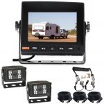 5inch Caravan Reversing Monitor Backup Camera Kit With One Camera Suzie/Curly Cable And Two 120° CCD Cameras