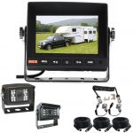 5inch Caravan Rear Vision System With One Camera Trailer Cable