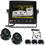 5inch Caravan Rear View Safety Kit With One Camera Suzie/Curly Cable And Two 120° Dome Cameras