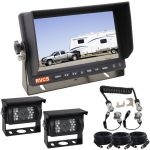 7inch Caravan Rear View System With One Camera Suzie/Curly Cable And Two 90° Cameras