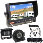 """Trailer Cable Suzy Coil for Caravan Secure Connection with a 7"""" LCD TFT Monitor & Two Backup Cameras 90° & 120°"""