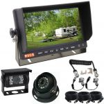 """7"""" Caravan Rear View Monitor With One Camera Suzie/Curly Cable for a Secure Connection Between the Caravan & Car"""