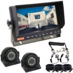 7inch Caravan Reversing Monitor Camera Kit With One Camera Suzie/Curly Cable And Two Side View 120° Cameras