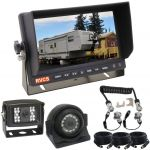 """Cast Alloy Caravan/Trailer Suzy Coiled Connection Cable with a 7"""" Monitor & Two Cameras & All Cables"""