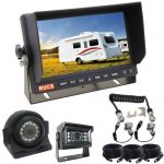 7inch Reversing Monitor Kit with a 5 pin plug spring/curly cable which provides an easy connection between the towing vehicle and trailer or caravan