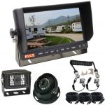 """7"""" Caravan Reversing Camera Monitor Kit With A Durable & Reliable Woza/Curly Cable Providing a Secure Connection Between the Vehicle & The Towing Vehicle"""