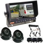 7inch Caravan Rear View System With One Camera Suzie/Curly Cable  And Two Dome 120 degree Cameras