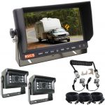 7inch Caravan Reversing Monitor Camera Kit With One Camera Suzie/Curly Cable And Two MINI High Resolution Cameras