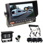 Caravans, RV & Motorhomes Rear Vision Cameras Kits Small Wing Mounted Camera for the Back of the Vehicle & A Camera with LED Lights for the Back of The Caravan Suzie Cable Included