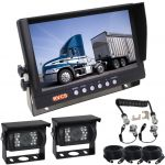 Caravan Rear View Kit With 9inch Reversing Monitor And One Camera Suzie/Curly Cable And Two 90° High Resolution Cameras