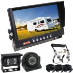 Reverse Camera System for Car & Caravan 9inch Monitor & Two Cameras & A Removable Spring Cable Connection Between the Caravan & Car
