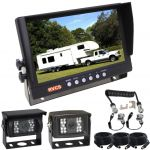 """Reversing Cameras Suit Truck/Bus 9"""" Reversing Camera Monitor &  Trailer Suzie/Woza Connecting Cable with Two Cameras 90° & 120°"""