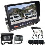 9inch Reversing Monitor & Two Rear-View Cameras to Allow An Unobstructed View Behind Your Caravan | Trailer Kit Includes A Suzy/Curly Connecting Cable