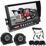 9inch Caravan Rear Vision Safety Kit With One Camera Suzie/Curly Cable And Two Side View High Resolution Cameras