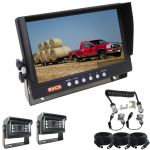 Caravan Rear View Kit With 9inch Reversing Monitor And One Camera Suzie/Curly Cable And Two MINI High Resolution 120° Cameras