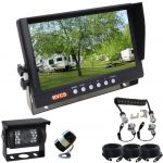 9inch LCD TFT Monitor & Two Reversing Camera One with a Wide 150° View & the other with a  90° View Includes Breakaway Curly Cable for a Secure Connection at the Hitch